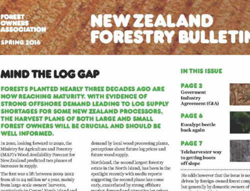 New Zealand Forestry Bulletin, Spring 2016